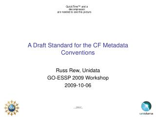 A Draft Standard for the CF Metadata Conventions