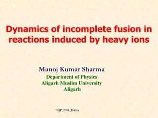Dynamics of incomplete fusion in  reactions induced by heavy ions