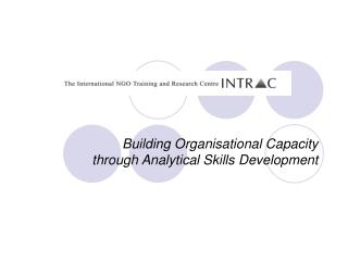 Building Organisational Capacity through Analytical Skills Development