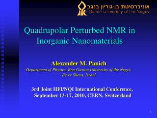 Quadrupolar Perturbed NMR in Inorganic Nanomaterials