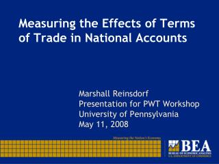 Measuring the Effects of Terms of Trade in National Accounts