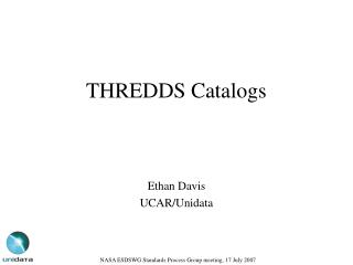 THREDDS Catalogs