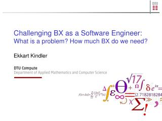 Challenging BX as a Software Engineer: What  is  a problem? How much BX do we need?