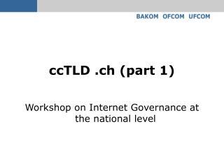 ccTLD .ch (part 1)