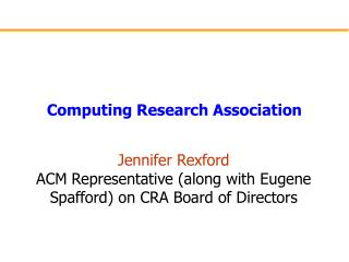 Computing Research Association
