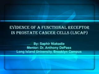 Evidence of a functional receptor in Prostate cancer cells LnCaP