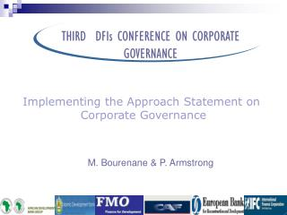 THIRD  DFIs CONFERENCE ON CORPORATE  GOVERNANCE