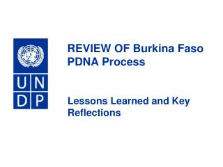 REVIEW OF Burkina Faso PDNA Process