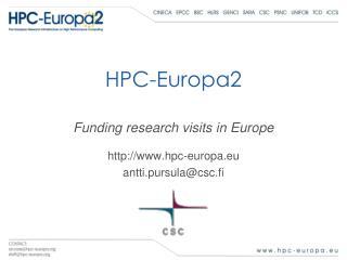 HPC-Europa2