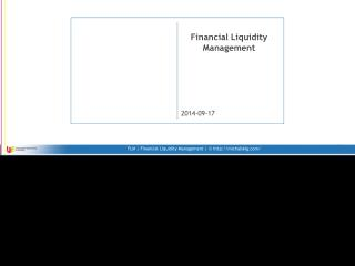 Financial Liquidity Management