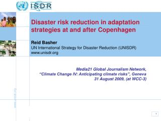 Reid Basher UN International Strategy for Disaster Reduction (UNISDR) unisdr