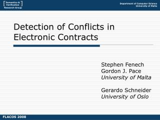 Detection of Conflicts in Electronic Contracts