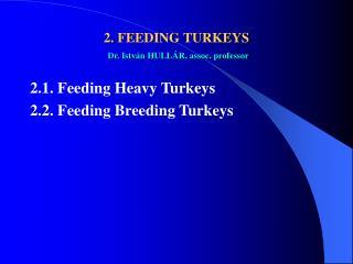 2.  FEEDING TURKEYS Dr. István HULLÁR, assoc. professor