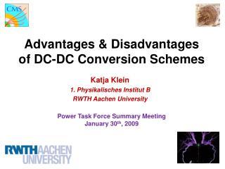 Advantages & Disadvantages of DC-DC Conversion Schemes