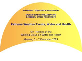 ECONOMIC COMMISSION FOR EUROPE WORLD HEALTH ORGANIZATION REGIONAL OFFICE FOR EUROPE