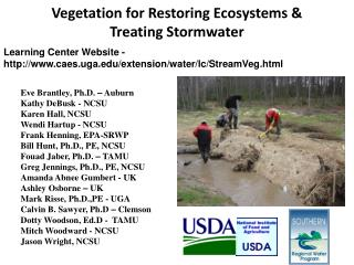 Vegetation for Restoring Ecosystems & Treating Stormwater