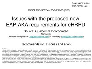 Issues with the proposed new EAP-AKA requirements for eHRPD