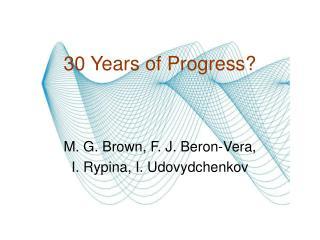 30 Years of Progress?