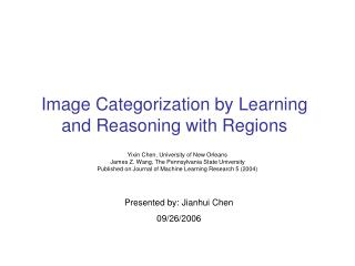Image Categorization by Learning and Reasoning with Regions