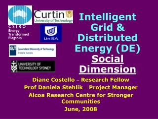 Intelligent Grid & Distributed Energy (DE) Social Dimension