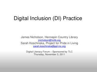 Digital Inclusion (DI) Practice