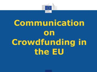 Communication on Crowdfunding in the EU