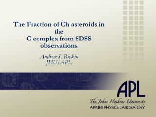 The Fraction of Ch asteroids in the  C complex from SDSS observations