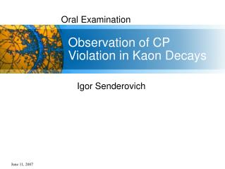 Observation of CP Violation in Kaon Decays