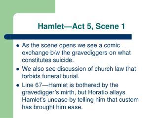 Hamlet—Act 5, Scene 1