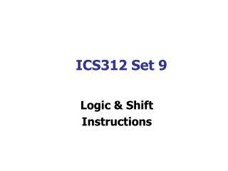 ICS312 Set 9
