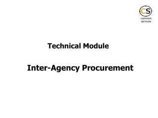 Inter-Agency Procurement