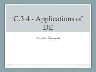 C.3.4 - Applications of DE