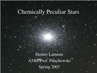 Chemically Peculiar Stars