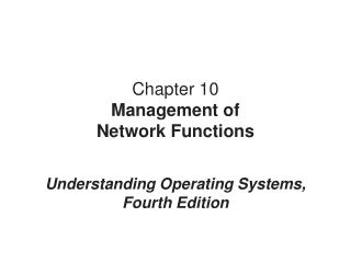 Chapter 10 Management of Network Functions