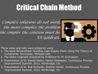 Critical Chain Method