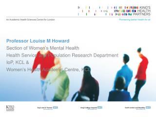 Professor Louise M Howard