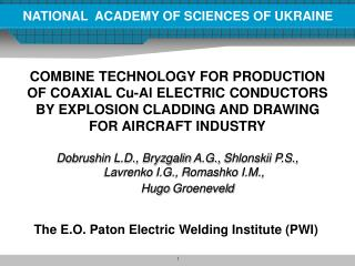 NATIONAL  ACADEMY OF SCIENCES OF UKRAINE