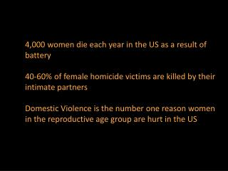 4,000 women die each year in the US as a result of battery