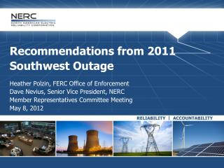 Recommendations from 2011 Southwest Outage