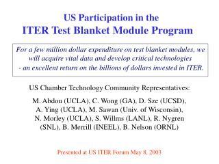 US Chamber Technology Community Representatives: