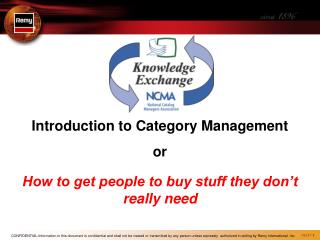 Introduction to Category Management