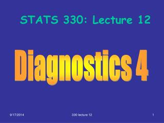 STATS 330: Lecture 12
