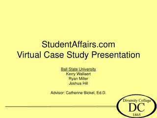 StudentAffairs Virtual Case Study Presentation