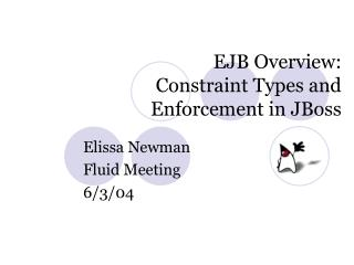 EJB Overview: Constraint Types and  Enforcement in JBoss