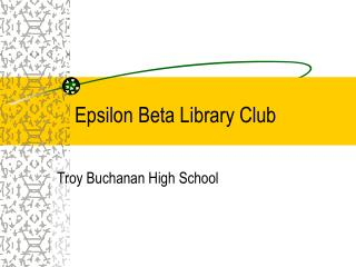 Epsilon Beta Library Club
