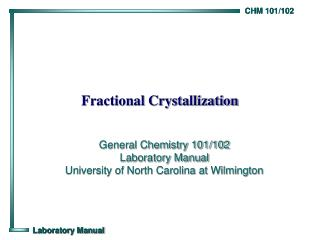 Fractional Crystallization