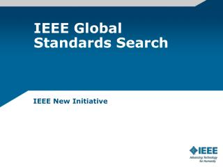 IEEE Global Standards Search