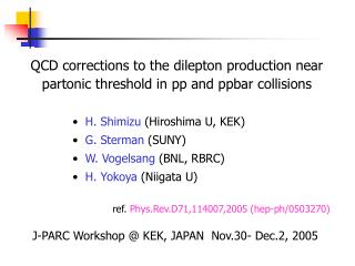 QCD corrections to the dilepton production near partonic threshold in pp and ppbar collisions