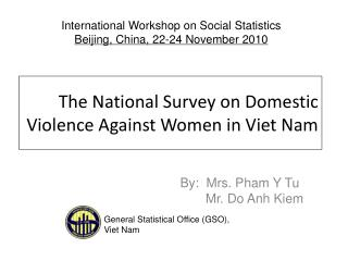 The National Survey on Domestic Violence Against Women in Viet Nam