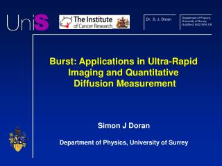 Burst: Applications in Ultra-Rapid Imaging and Quantitative  Diffusion Measurement
